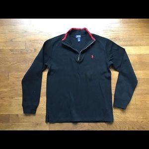 Polo Boy's Cotton 1/2 Zip Sweater size (14-16)